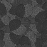 Seamless abstract hand-drawn pattern, waves background. Gorgeous seamless floral background. Vector Illustration - 116743405