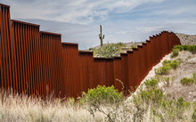 US-Mexican Border In Arizona, USA