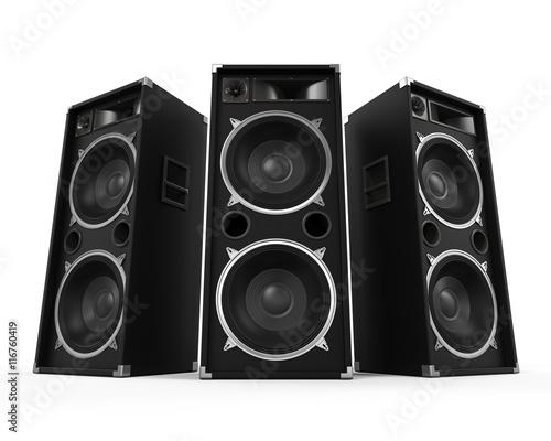Obraz na plátně Large Audio Speakers