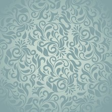 Grey Damask Pattern