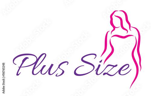 Photo  Logo plus size woman