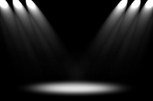 Dark Interior With Spotlight Background