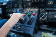 Vintage airplane dashboard