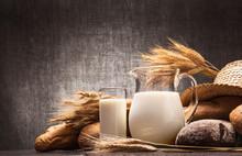 Fresh Milk And Bread