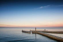 Whitby Seascape Lighthouse In ...