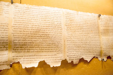 Dead Sea Scroll At Qumran, Isr...