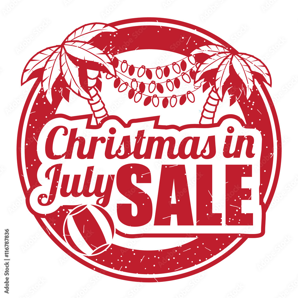Christmas In July Background Images.Photo Art Print Christmas In July Grunge Rubber Stamp On