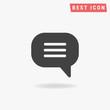 Speech bubble Icon Vector.