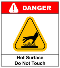 Do Not Touch Hot Surface Dange...