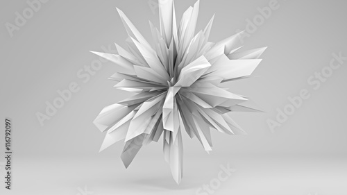 Photo White sharp edged 3D shape