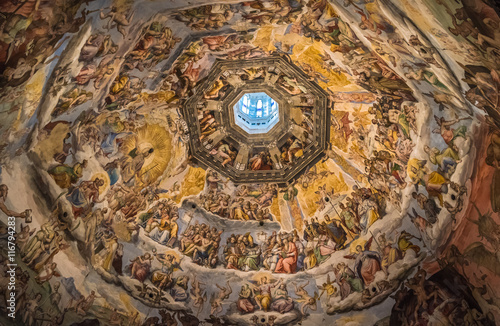 Photo sur Toile Florence The Cupola of Duomo of Florence, Tuscany, Italy