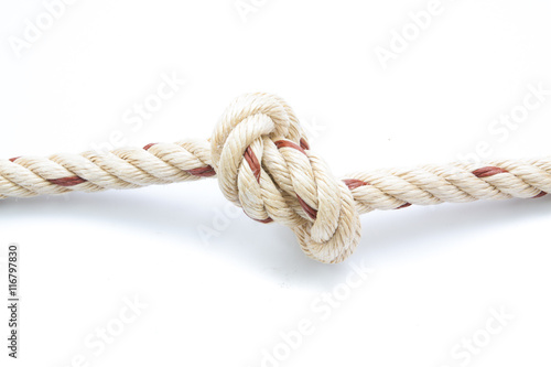 Stampe  jute ropes with knot isolated