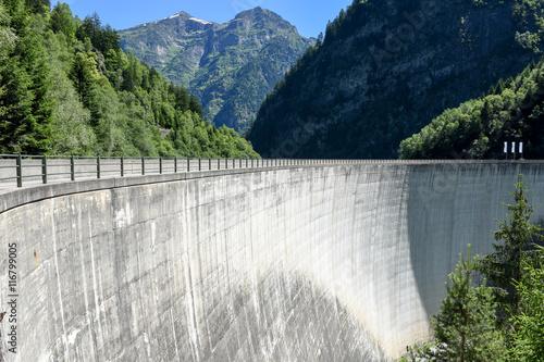 Deurstickers Dam Dam of Malvaglia on Blenio valley