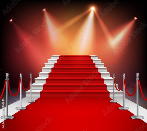 Cuadros en Lienzo  Red Carpet With Stairs