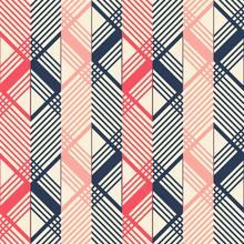 Seamless Geometric Pattern In Pleasant Retro Color Palette