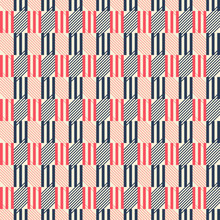 Triple Sticks And Diagonal Lines Seamless Retro Colored Pattern