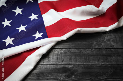 Poster Countryside USA flag, stars and stripes