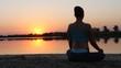 Meditation exercise on nature