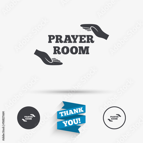 Prayer Room Sign Icon Religion Priest Symbol Buy This Stock