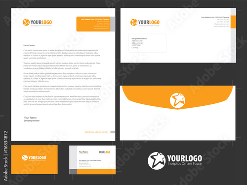 Fototapeta Corporate stationery template design with Abstract elements obraz