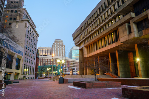 Downtown Boston and boston skyline