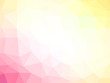 Abstract pink yellow white gradient polygon shaped background