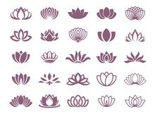 Lotus Symbol Illustration Icon Set