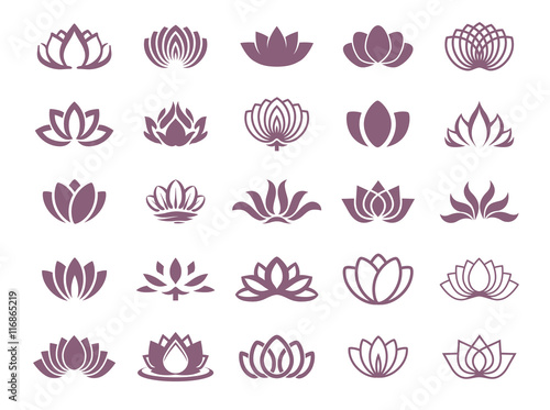 Photographie  Lotus symbol illustration icon set