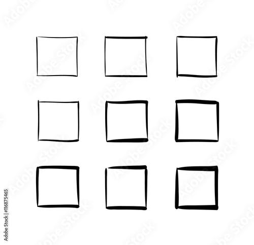 Fotografia Set of hand-drawn vector squares