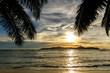 Seychelles, sunset on Praslin island