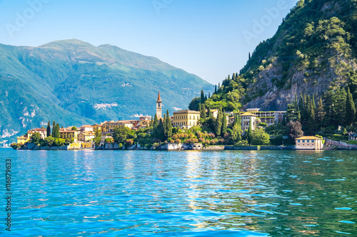 Fotografia Varenna the one of town in lake como, Italy