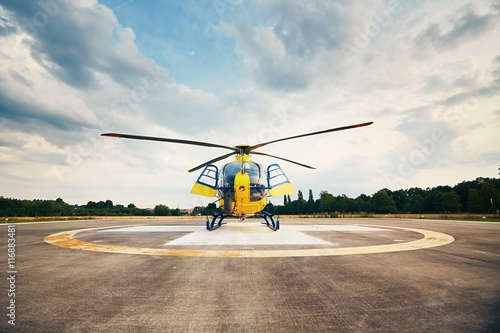 Canvas Prints Helicopter Air rescue service