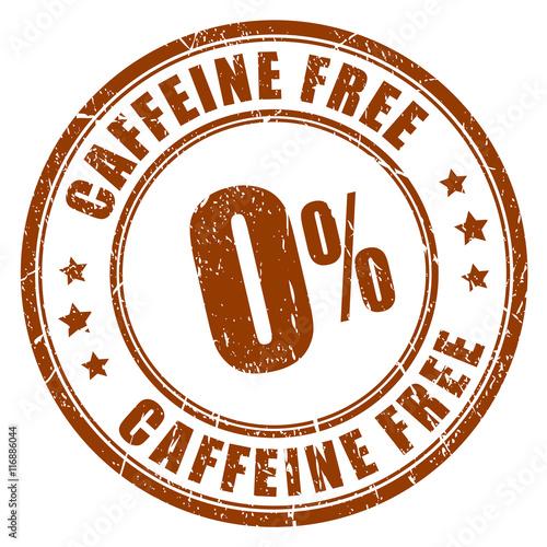 Photo  Caffeine free rubber stamp