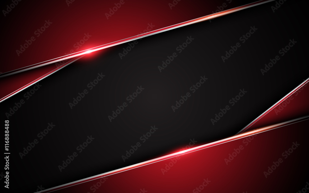 Fototapety, obrazy: abstract metallic red black frame layout design tech innovation concept background