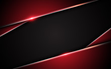 Abstract Metallic Red Black Fr...