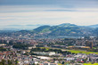 View from the mountains to the city of Lucerne