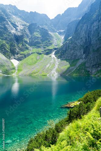 amazing black pond (polish: czarny staw) in High Tatra mountains, Poland