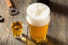 Refreshing Beer And Whiskey Shot Boilermaker