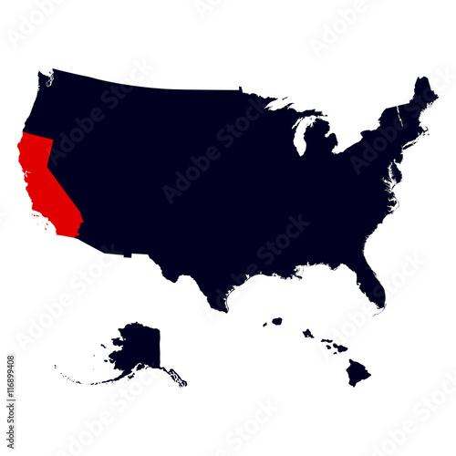 California State in the United States map – kaufen Sie diese ...