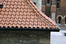 Traditional Red-tiled Roofs In Prague