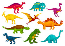 Dinosaurs Cartoon Collection. Vector Animals