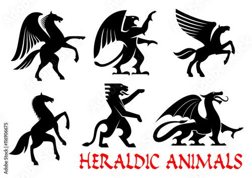 Photo  Heraldic animals emblems and icons