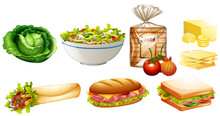Set Of Different Kinds Of Food
