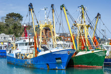 Fishing Trawlers In Port