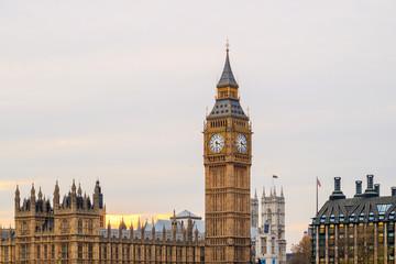Fototapeta na wymiar Big Ben and Houses of Parliament in London