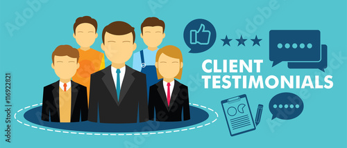 Fotografie, Obraz  client testimonial feedback