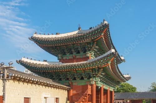 In de dag Beijing The main gate of Changgyeonggung palace, Seoul, South Korea