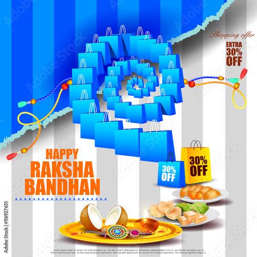 Foto  Raksha bandhan background for Indian festival celebration