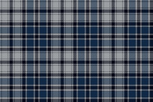 Blue Plaid Seamless Fabric Pattern