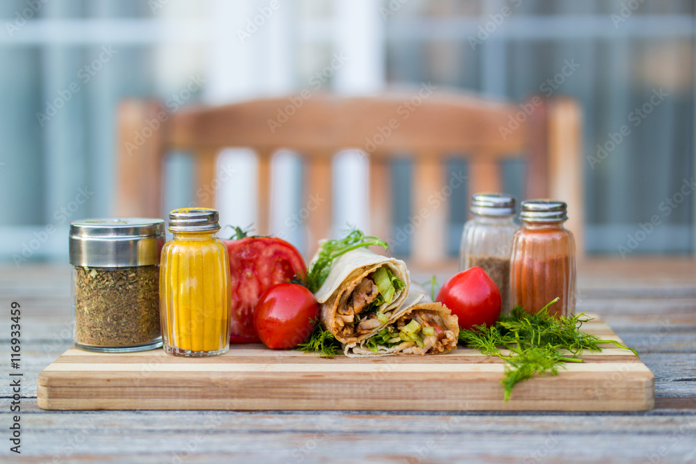 Turkish Chicken Doner / Shawarma Poster, Plakat   3+1 GRATIS bei ...